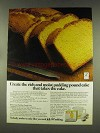 1977 Jell-O Ad - Sour Cream Pudding Pound cake recipe
