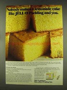 1977 Jell-O Pudding Ad - Lemonade Cake Recipe