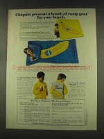 1977 Chiquita Banana Ad - Bunch of Camp Gear