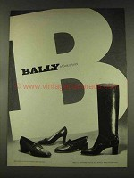 1977 Bally of Switzerland Shoes and Boots Ad