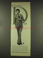 1977 Christian Dior Silver Grey Flannel Suit Ad