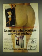1977 Sears Pretty Natural Shaper Ad - What You Had