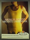 1977 Fruit of the Loom Underwear Ad - Women's Favourite