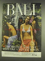 1977 Bali Bras Ad - Feel Like a Natural Woman