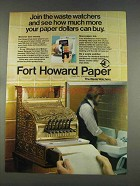 1977 Fort Howard Paper Ad - Join Waste Watchers