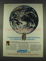 1977 Lennox Air Conditioner Ad - 2-Speed Compressor