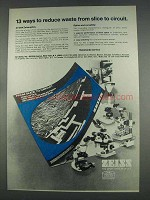 1977 Zeiss Microscopes Ad - From Slice to Circuit