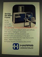 1977 Harris 1600 Remote Communications Processor Ad