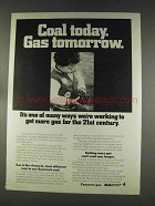 1977 AGA American Gas Association Ad - Coal Today