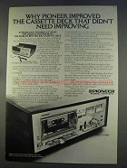 1977 Pioneer CT-F4242 Cassette Deck Ad - Improved
