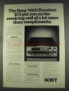 1977 Sony STR-7800SD Receiver Ad - Compliments