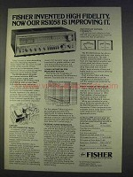 1977 Fisher RS1058 Receiver Ad - High Fidelity