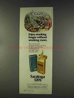 1977 Saratoga 120 Cigarettes Ad - Enjoy Smoking Longer