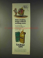 1977 Saratoga 120 Cigarettes Ad - Smoking Longer
