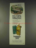 1977 Saratoga 120 Cigarettes Ad - Enjoy Smoking