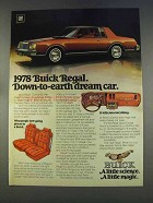 1978 Buick Regal Sport Coupe Ad - Down-to-Earth Dream