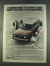 1977 Volvo Wagon Ad - Carry Cargo More Precious