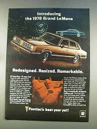 1978 Pontiac Grand LeMans Ad - Redesigned Resized