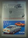 1977 Toyota Celica GT Liftback Ad - The Hot One