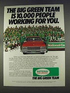 1977 National Car Rental Ad - The Big Green Team
