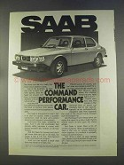 1977 Saab EMS Ad - The Command Performance Car