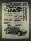 1977 Saab 5 Door Car Ad - Guts That Beat BMW