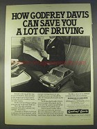 1977 Godfrey Davis Car Rental Ad - Save Lot of Driving
