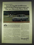 1977 Mercedes-Benz 300D Ad - Sophisticated Diesel