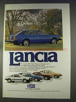 1977 Lancia HPE Estate Wagon, Scorpian, Coupe, Sedan Ad