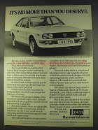 1977 Lancia Beta 1300 Coupe Ad - You Deserve