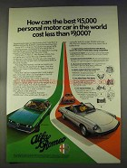 1977 Alfa Romeo Gt, Sedan and 2000 Spider Veloce Ad