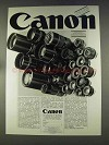 1977 Canon Lenses Ad - in German