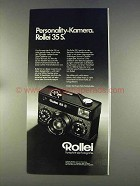 1977 Rollei 35 S Camera Ad - in German