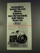 1977 Nikon Nikkormat FT-3 Camera Ad - in German