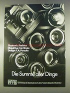 1977 Contax RTS Camera Ad - in German