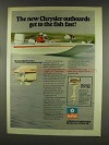 1977 Chrysler Marine Outboards Ad - Get to Fish Fast