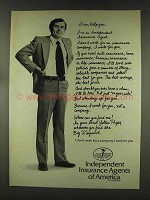 1977 Independent Insurance Agents of America Ad - Help