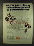 1977 Aetna Insurance Ad - Financing Auto Parts