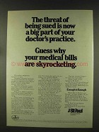 1977 The St. Paul Insurance Ad - Threat of Being Sued