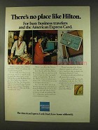 1977 American Express Ad - No Place Like Hilton