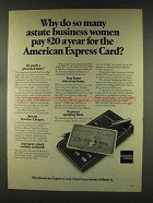 1977 American Express Ad - Astute Business Women