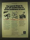 1977 New York Life Insurance Ad - When Business is Best