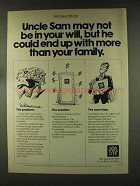 1977 New York Life Insurance Ad - Uncle Sam