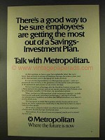 1977 Metropolitan Insurance Ad - Savings-Investment