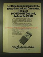1977 United Airlines Ad - Rotary Convention
