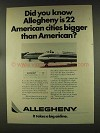 1977 Allegheny Airline Ad - Bigger Than American
