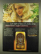 1977 Don Q Gold Rum Ad - Last Night at Nancy T's