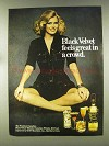 1977 Black Velvet Whisky Ad - Feels Great in a Crowd