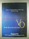 1977 Seagram's V.O. Whisky Ad - Signs Tell Where to Go