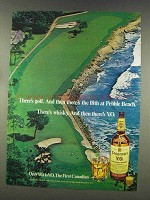 1977 Seagram's V.O. Whisky Ad - 18th at Pebble Beach